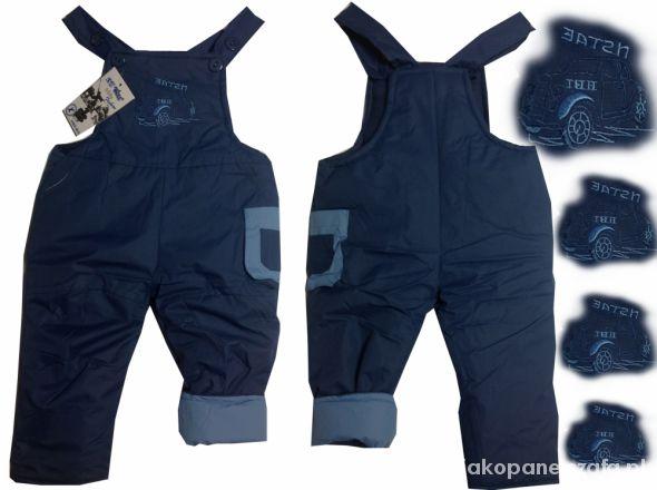 Ogromnie 110 116 Spodnie Kombinezon Szelki Ocieplane Polar w Kombinezony GR24