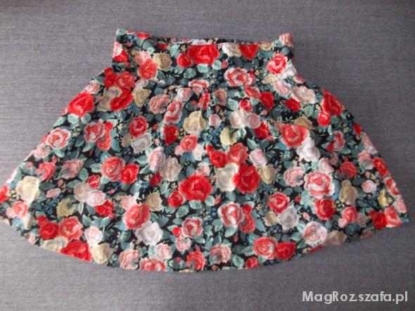 Spódnice spódnica h&m w kwiaty blogerska 38 M