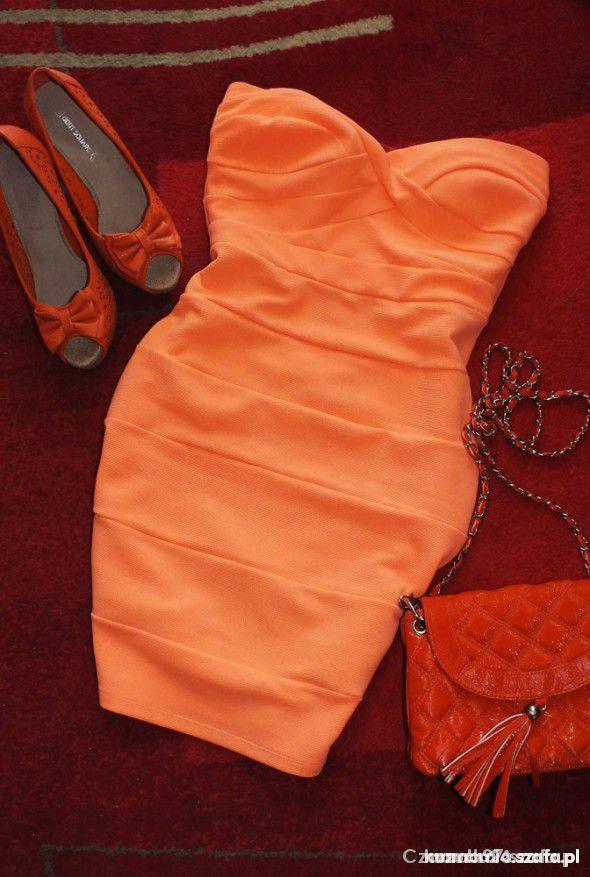 Morelowa sukienka tally weijl...