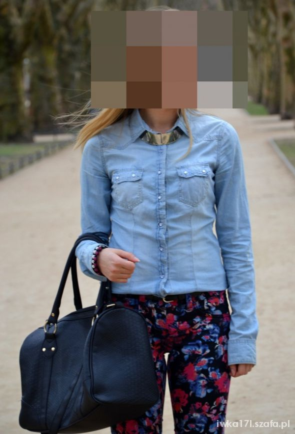 koszula jeans stradivarius 36