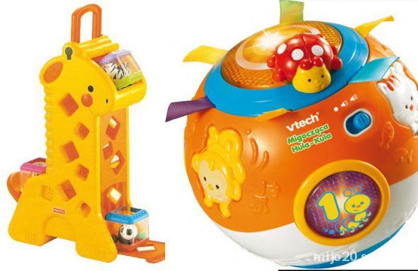 Zabawki Żyrafa Fisher price Kula hula Vtech bdb