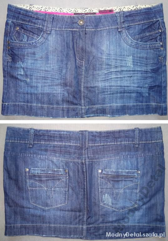 Spódnice mini spódnica jeansowa r 50 MODNA na jesień