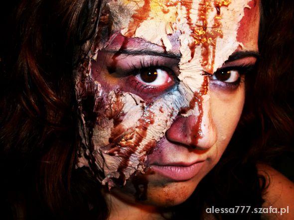 Moja Stylizacja Maska Na Halloween W Fryzury Szafapl