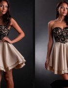 sukienka z gorsetem koronkowym