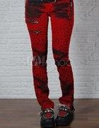 spodnie panterka czerwone...