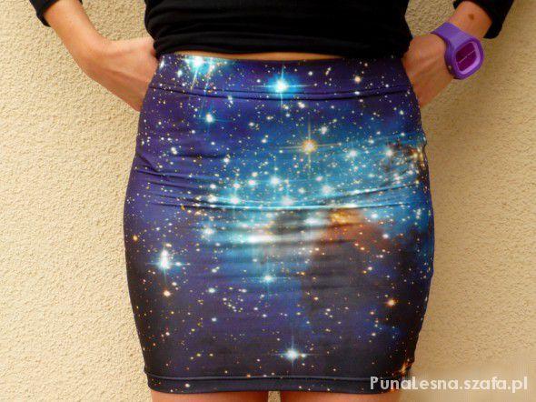 Ołówkowa spódnica mini GALAXY