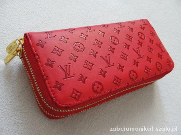 Portfele portfel duży czerwony