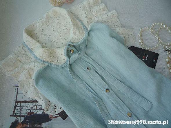 Bluzki NOWA jeans koronka