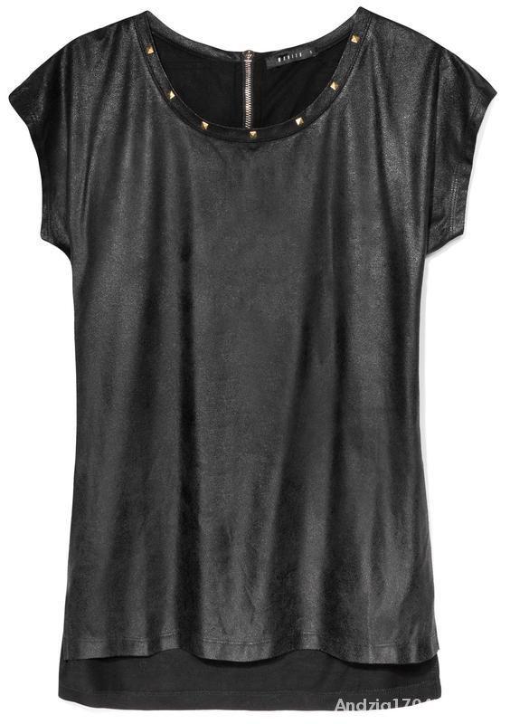 Bluzki Czarna bluzka Mohito