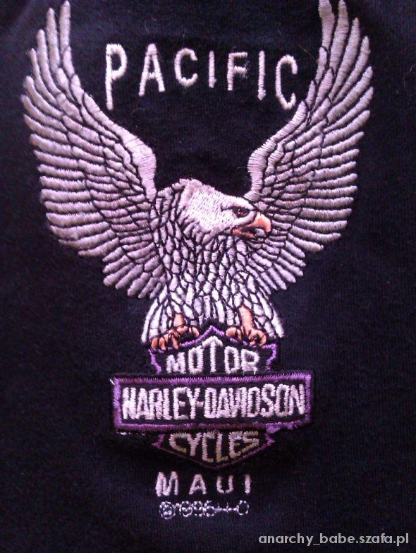 Bluzki HARLEY DAVIDSON czarna bluzeczka wyszywany orzeł