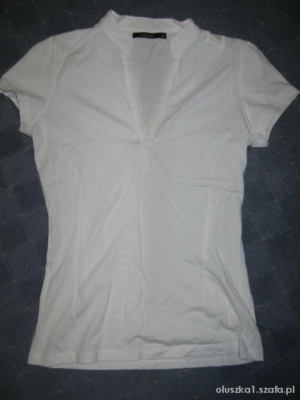 Bluzki Biała ze stójką S M