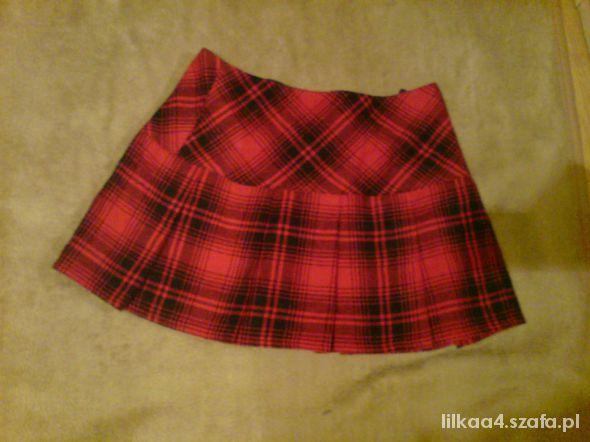 Spódnice czerwona spódnica w kratkę mini s plisowana