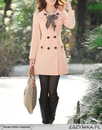 Eleganckie Plaszczyk jesienny