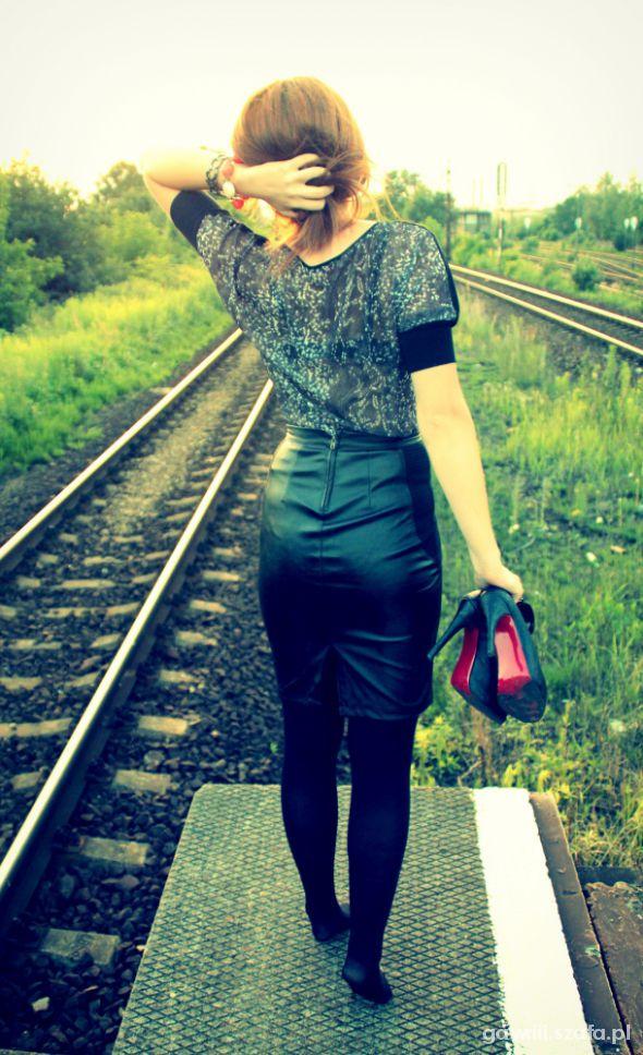Mój styl Skórzana spódnica