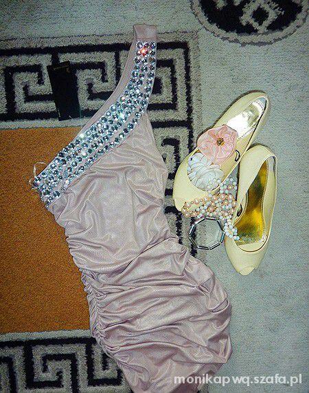 Suknie i sukienki pudrowa sukienka tally weijl s m