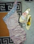 pudrowa sukienka tally weijl s m