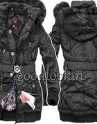 Długa ciepła kurtka zimowa