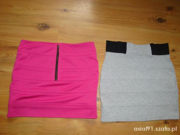 Spódnice zestaw mini zip roz i szara river island S