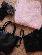Pudrowy sweterek Shopper atmo...