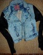 Ramoneska primark atmosphere marmurkowa jeans 36