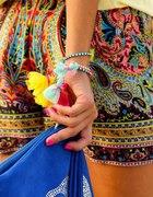 Kolorowe szorty etno aztec gypsy