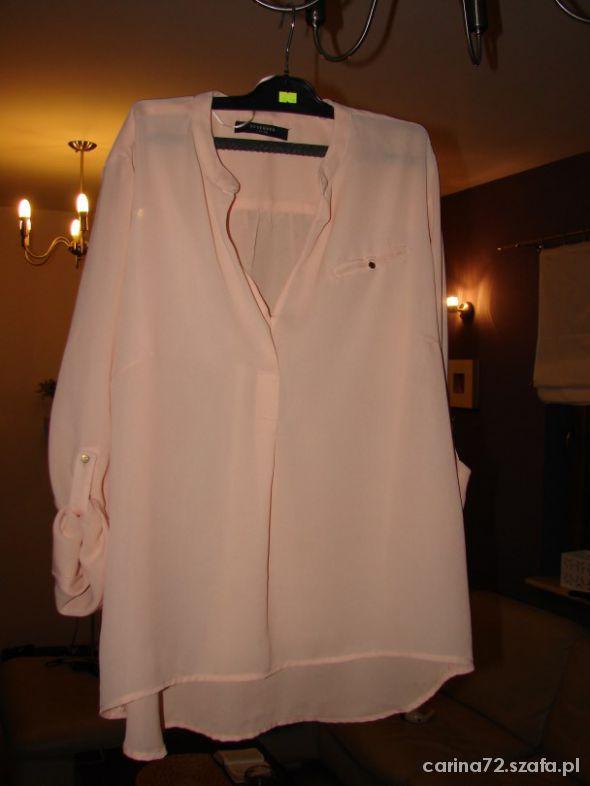 Bluzki bluzka z długim mgiełka