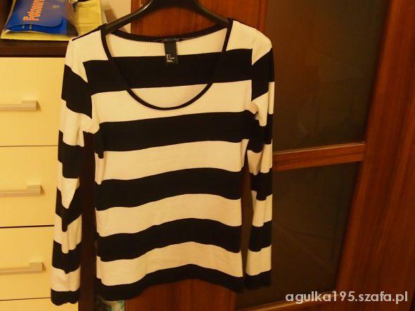 Bluzki Super czarno biały pasiak h&M