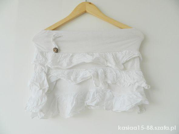 Spódnice biała mini letnia