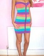 sukienka teczowa lipsy