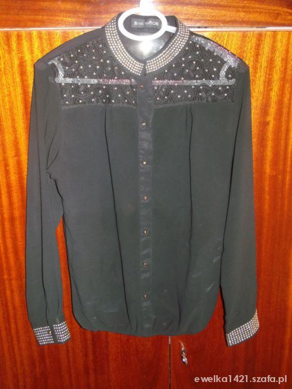 Bluzki czarna koszula mgiełka