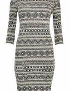 New Look monochromatyczna aztecka sukienka...