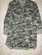 Militarna Koszula Modna podwijane rękawy