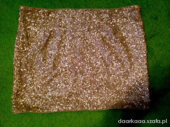 Spódnice Spódniczka cekiny złota Zara