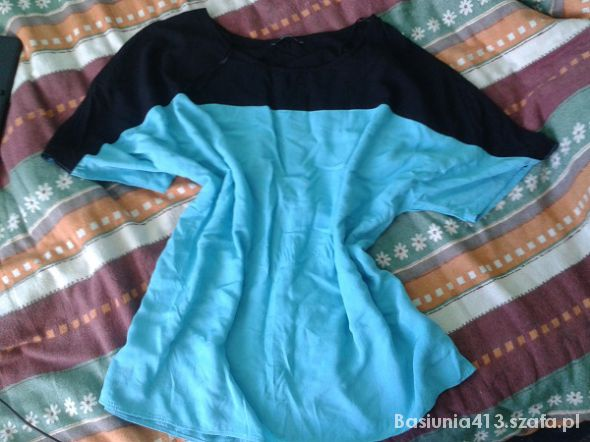 Bluzki błękitna oversize