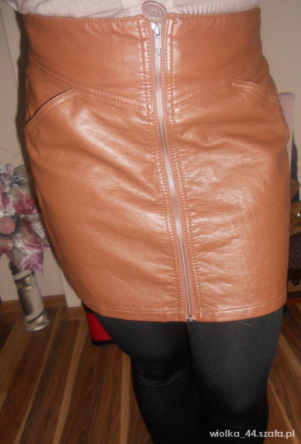 Spódnice Spódnica H M skórzana