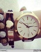Zegarek srebrno złoty lub biało złoty