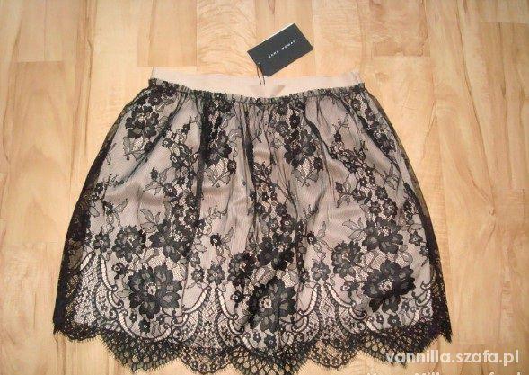 Spódnice Spódnica koronkowa ZARA