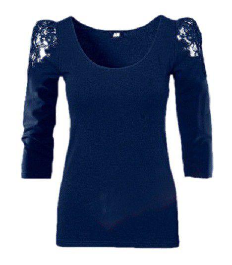 Bluzki Bluzka H&M koronka ramiona