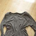 Bluzeczka w paski beż czerń zip oversize