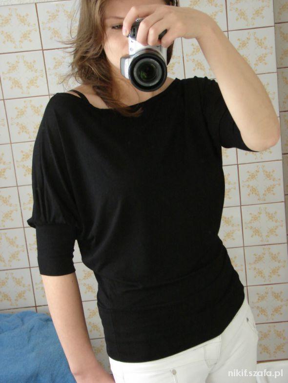 Bluzki Czarny nietoperz Orsay