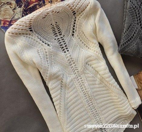Swetry SWETEREK AŻURKOWE PLECY DŁUŻSZY TYŁ MEGAAA