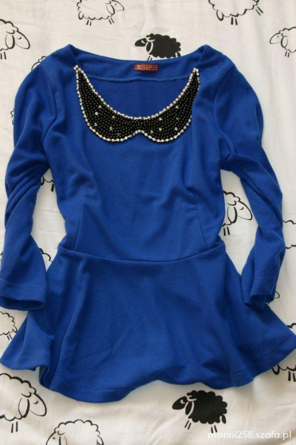 Bluzki niebieska baskinka 36 38