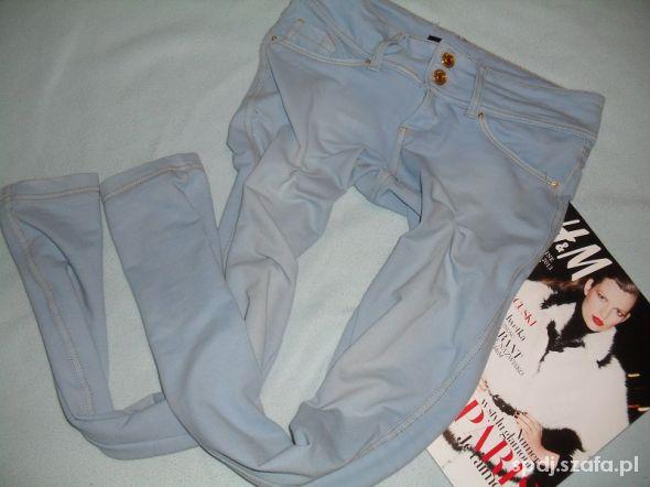 Tally Weijl błękitne legginsy