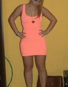 Morelowa sukienka i 10kg mniej