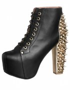 Lita spike gold heel Jeffrey campbell