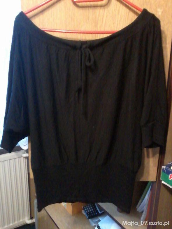 Bluzki Bluzka czarna nietoperz XL