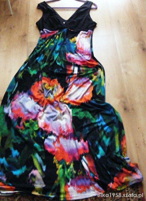 Długa barwna sukienka Wysyłka 0
