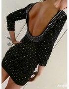 h&m sukienka dżety odkryte plecy S mołek