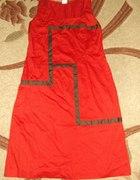 Ruda sukienka 4042
