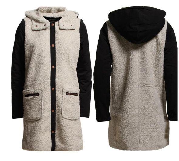 Płaszcz z kożuszkiem VILA baranek...